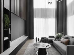 Contemporary Modern Living Room@NEW HEIGHTS OF STYLE - Semi-D, Shah alam