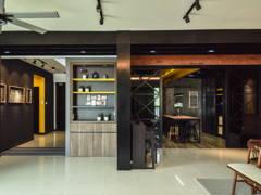 Industrial Rustic Foyer Kitchen@< Industrialized Chic > @ Armanee Terrace II