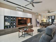 Contemporary Modern Living Room@Seri Jalil Residence