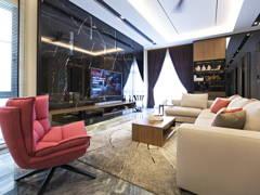 Contemporary Living Room@Desa Hill Residence, Desa Petaling