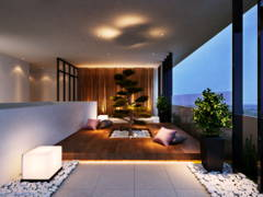 Contemporary Modern Balcony@PJ Midtown - High End Condominium Facilities