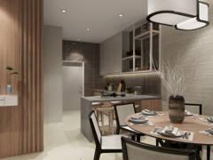 Minimalistic Zen Dining Room Kitchen@Neutral Minimalist Zen - Valley West 2, Horizon Hills