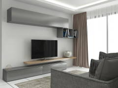 Contemporary Living Room@Refurbish old apartment