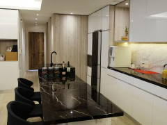 Contemporary Modern Dining Room Kitchen@Minimalism and Monochrome Modern Condominium