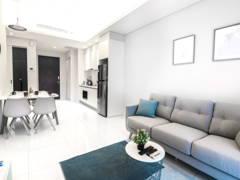 Minimalistic Scandinavian Dining Room Kitchen@Tribeca Suites @ Bukit Bintang