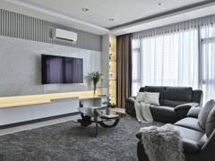 Contemporary Modern Living Room@Modern Contemporary Condo