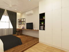 Contemporary Modern Bedroom@X2 Residency, Puchong South