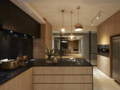 Contemporary Modern Kitchen@A palette of black- Penthouse at Mont Kiara, KL
