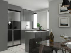 Contemporary Kitchen@Refurbish old apartment