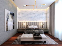 Contemporary Modern Bedroom@HERMOSA VILLA, ECO SANCTUARY