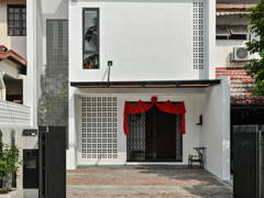 Asian Minimalistic Exterior@The Woven House