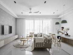 Minimalistic Zen Living Room@Hatsuhinode - Condominium