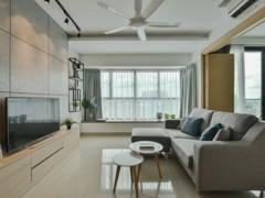 Minimalistic Scandinavian Living Room@The Leafz Condominium