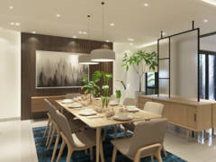 Contemporary Minimalistic Dining Room@Kalista Park Homes Superlink