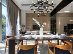 Contemporary Modern Dining Room Living Room@< Subtle Sophistication > @ Park Manor Showhouse, SierraMas