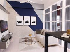 Contemporary Dining Room Living Room@MUTIARA VILLE, CYBERJAYA
