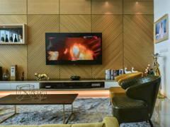 Contemporary Retro Living Room@Gold, Glam, Grandeur @ One Central Park