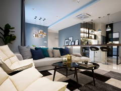 Contemporary Minimalistic Kitchen Living Room@The Vyne 19