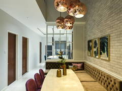 Contemporary Vintage Dining Room@Modern English terrace home