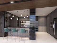 Contemporary Modern Kitchen@Seni Mont Kiara Pent House
