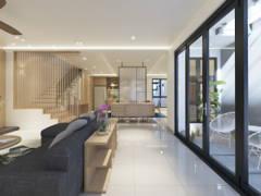 Minimalistic Scandinavian Dining Room Living Room@Kalista Park Homes Superlink