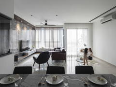 Contemporary Modern Dining Room Foyer@The Consonance - The Rainz