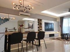Minimalistic Dining Room Living Room@Zenia Townhouse, Desa Park City