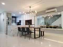 Minimalistic Modern Dining Room Kitchen@Zenia Townhouse, Desa Park City