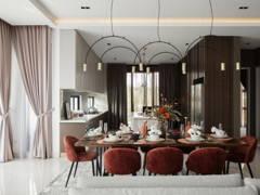Contemporary Minimalistic Dining Room Kitchen@Jadehills Blossom Terrace
