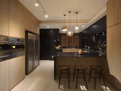 Minimalistic Scandinavian Kitchen@A palette of black- Penthouse at Mont Kiara, KL