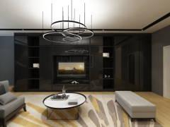 Minimalistic Modern Family Room Living Room@Double Storey House @ Bukit Prima