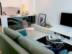 Minimalistic Scandinavian Kitchen Living Room@TA RESIDENCE