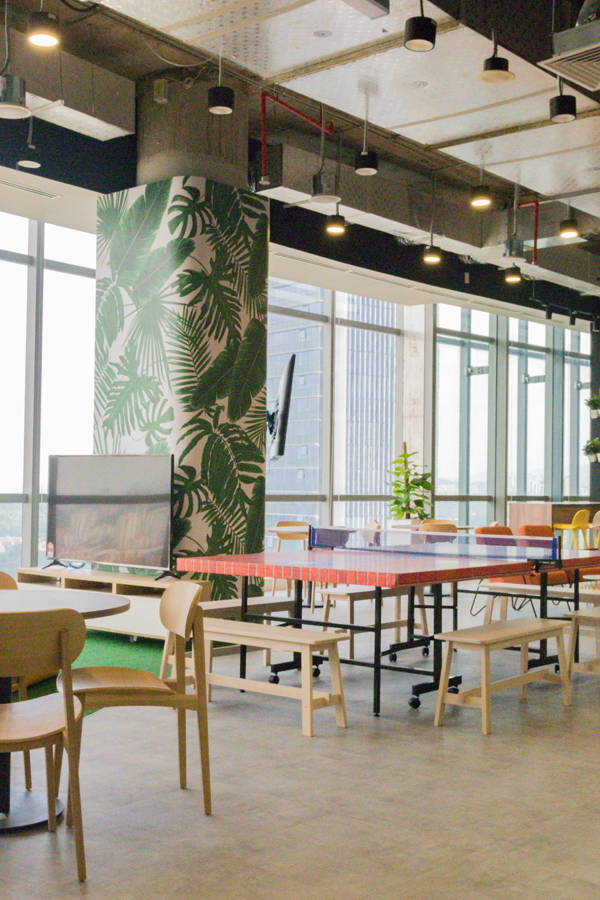 A Cool Penthouse Office Designed for Coffee Conversation and Collaboration
