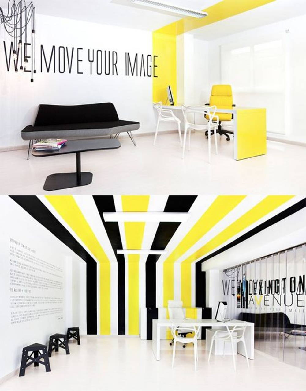 bold colour office