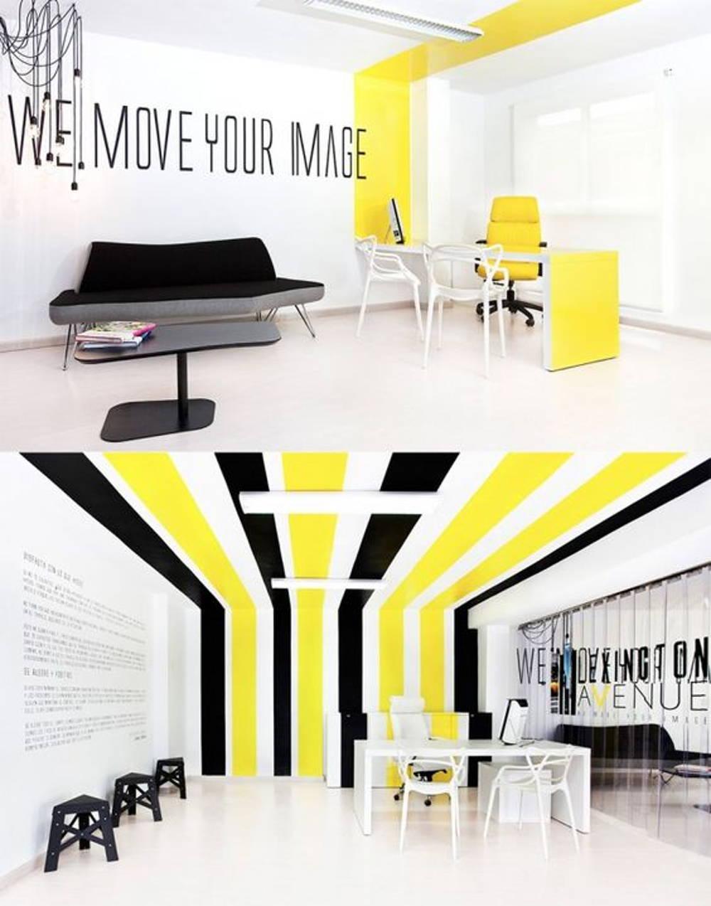 bold colour office