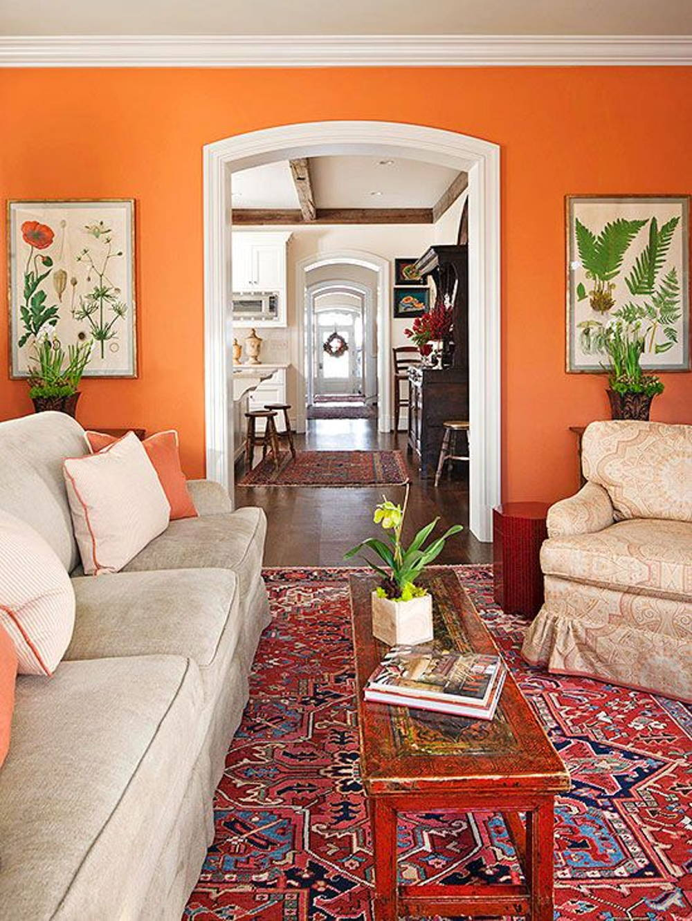 orange wall home