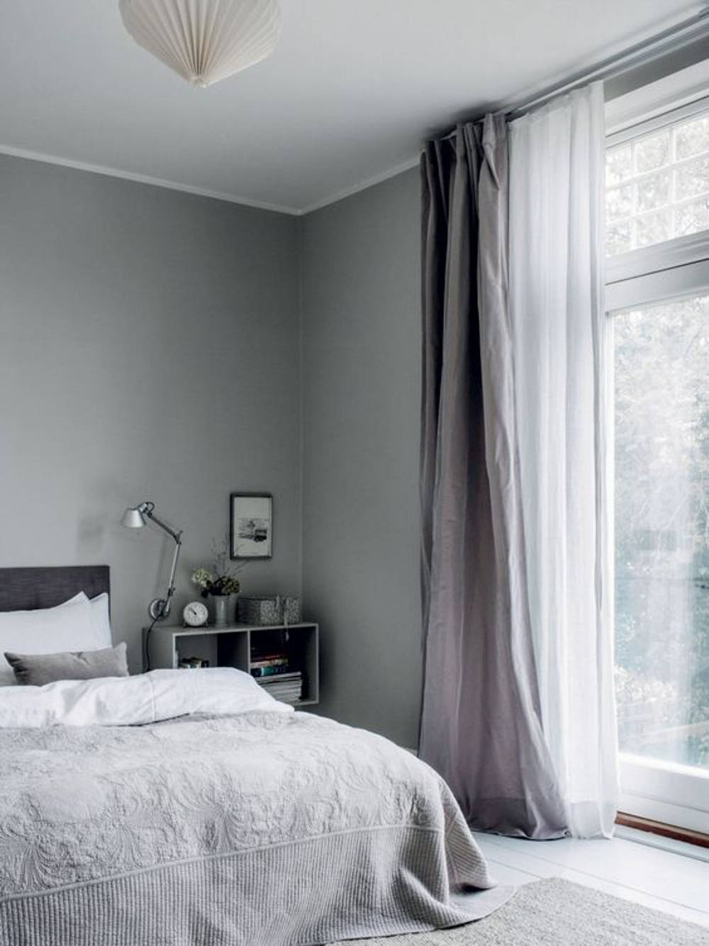 All grey room