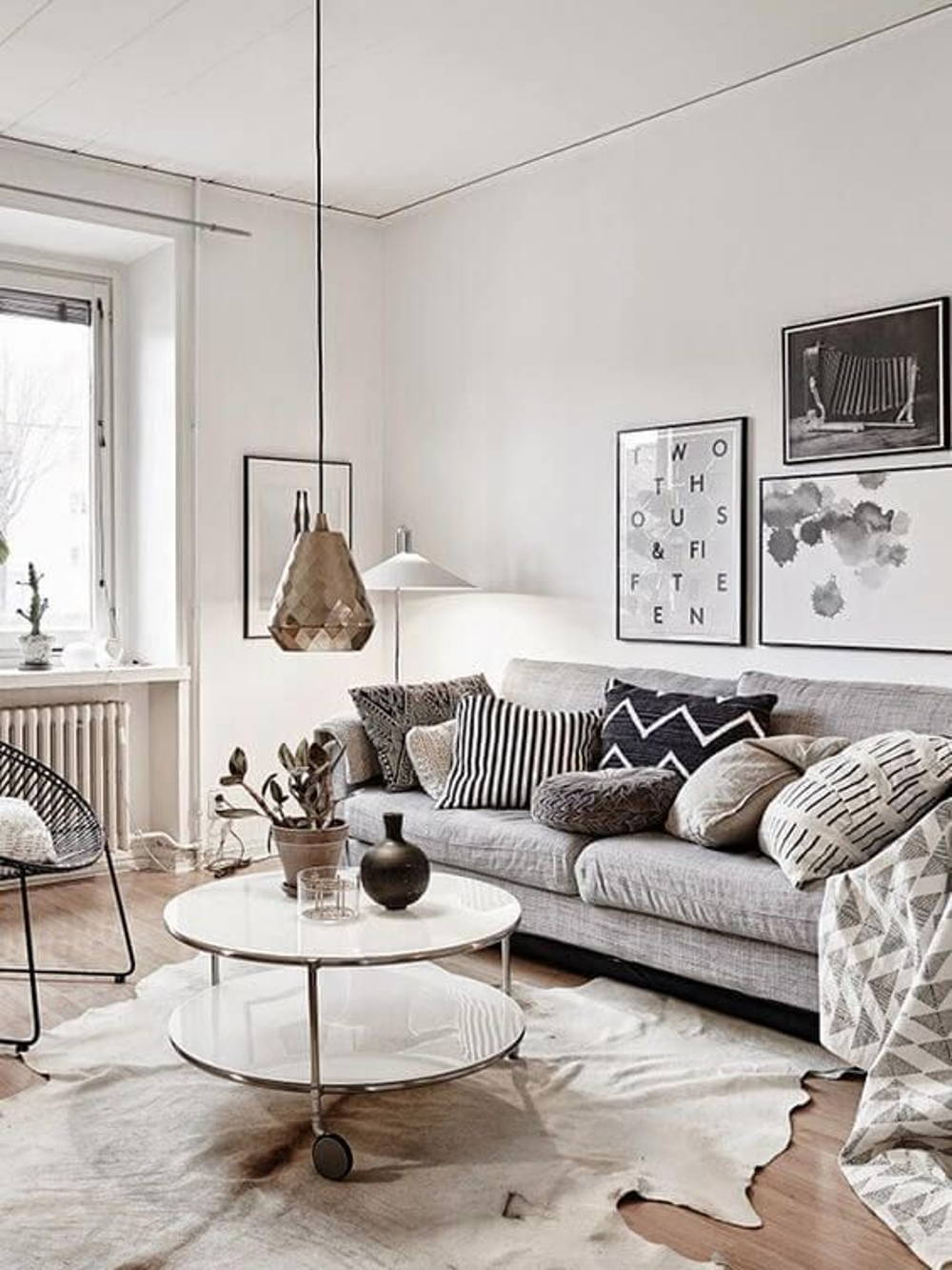 Grey living area