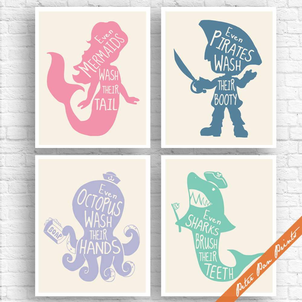 kid bathroom prints