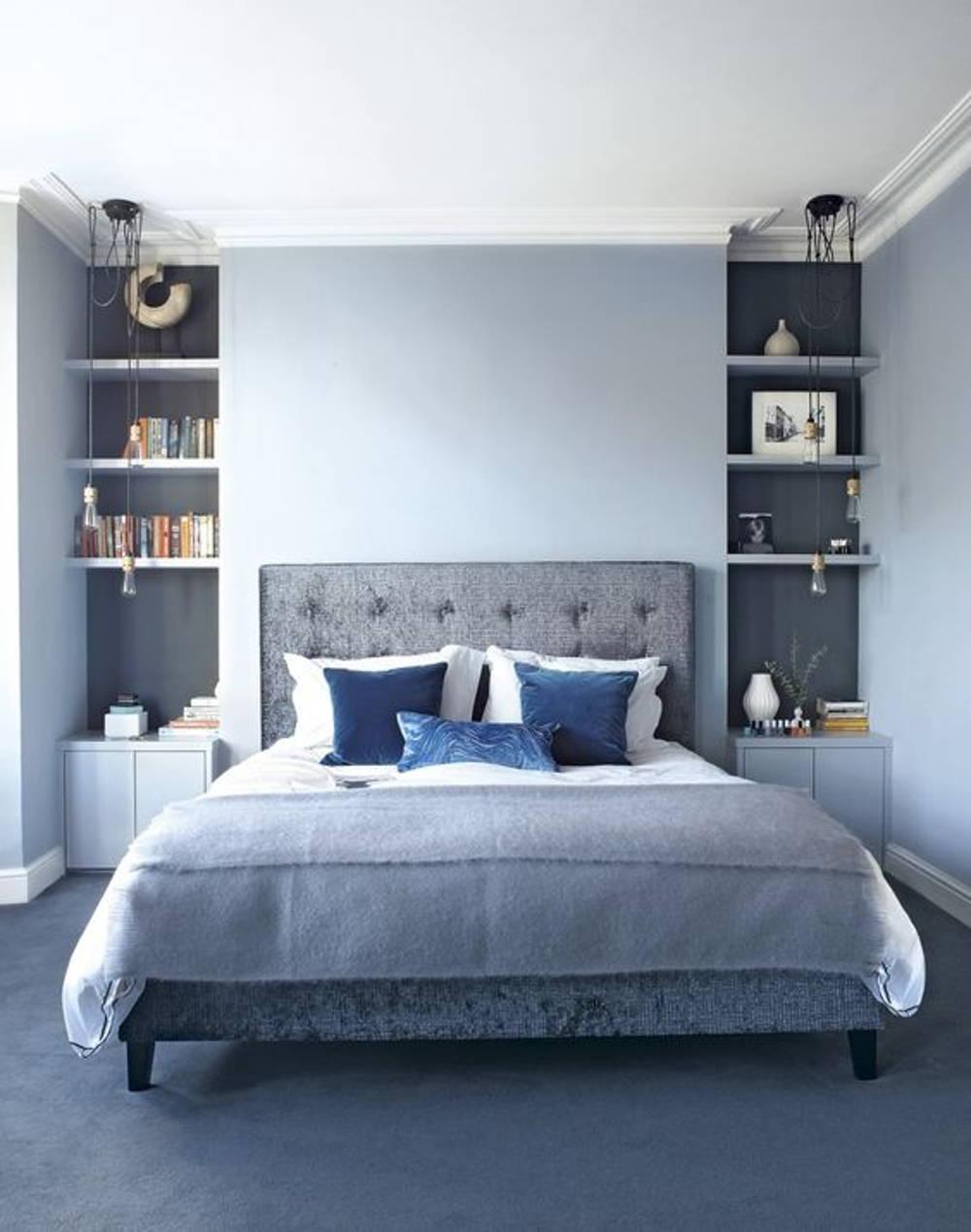 Blue theme bedroom
