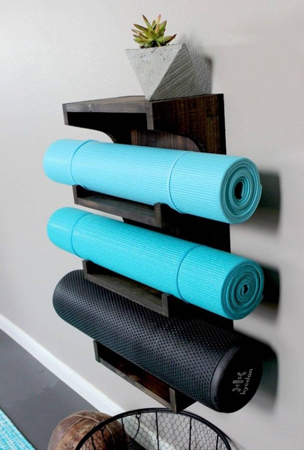 yoga mat shelf