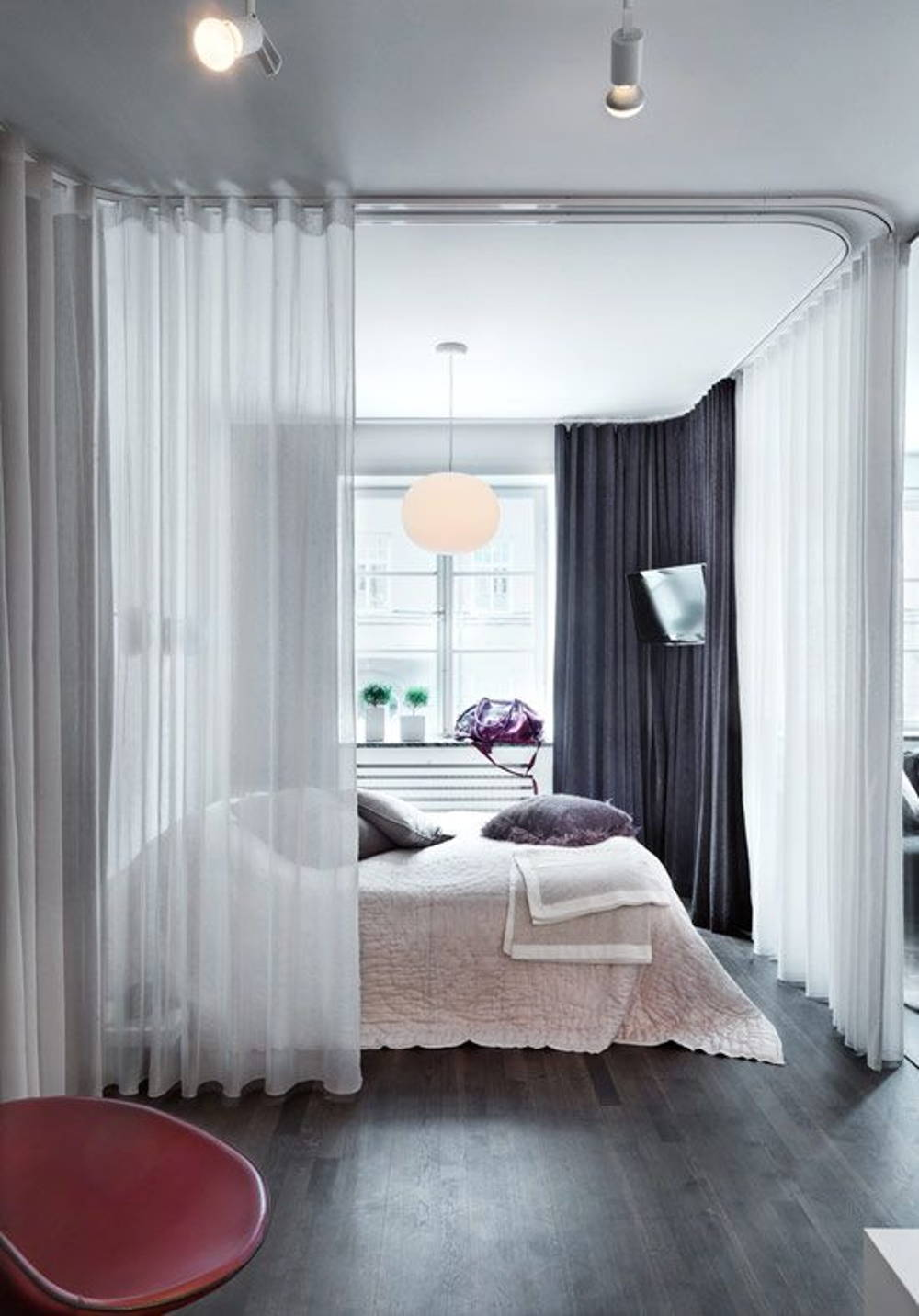 curtain partition bedroom