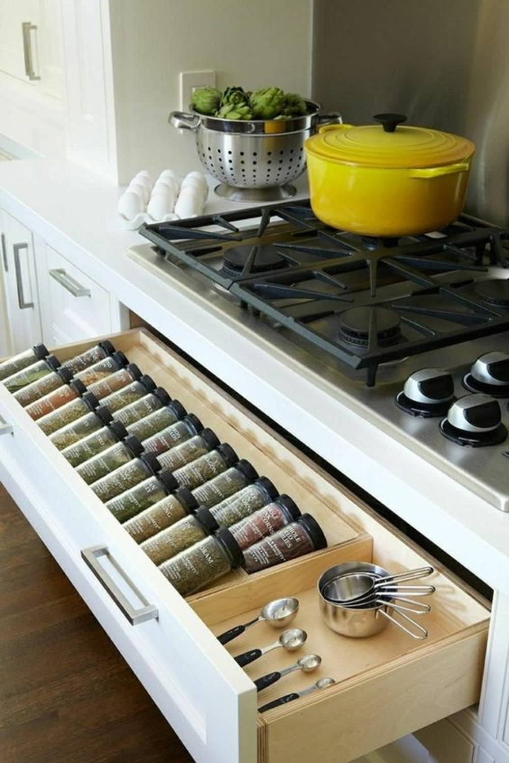 Kitchen spices drawer