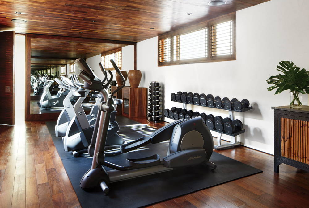 George Clooney home gym