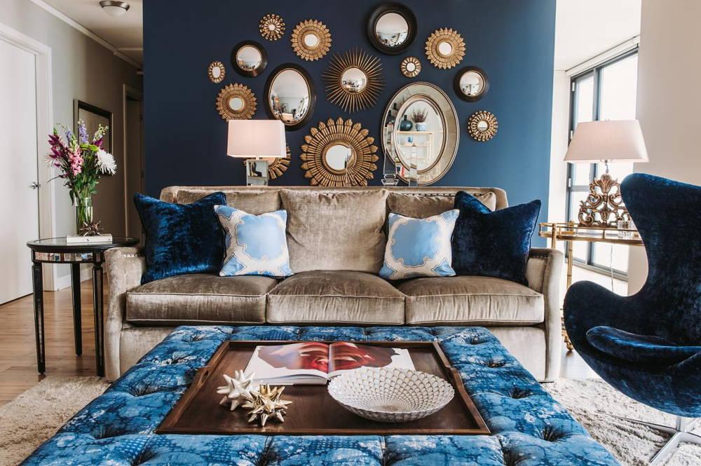 living room velvet