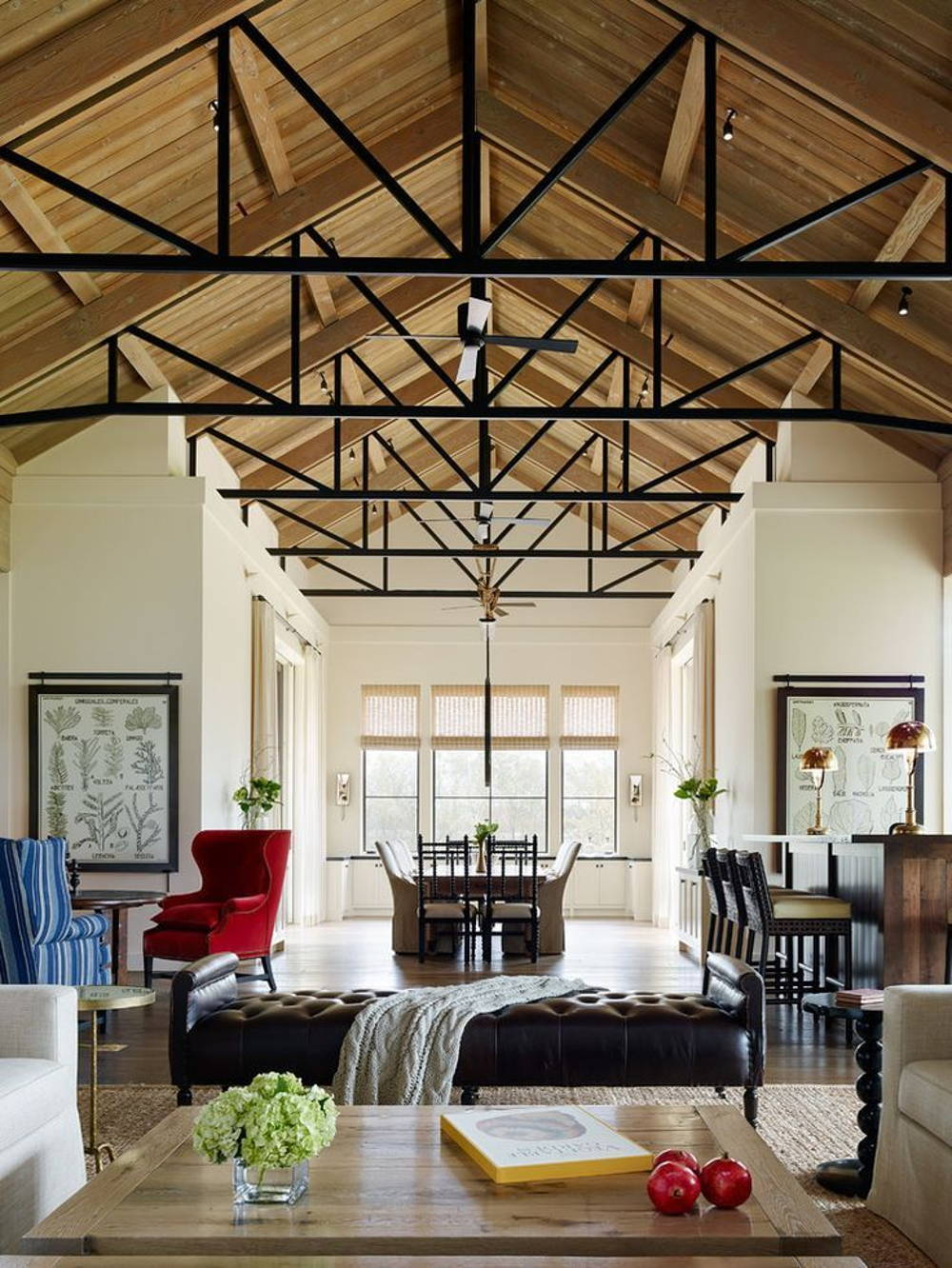 metal beam ceiling home