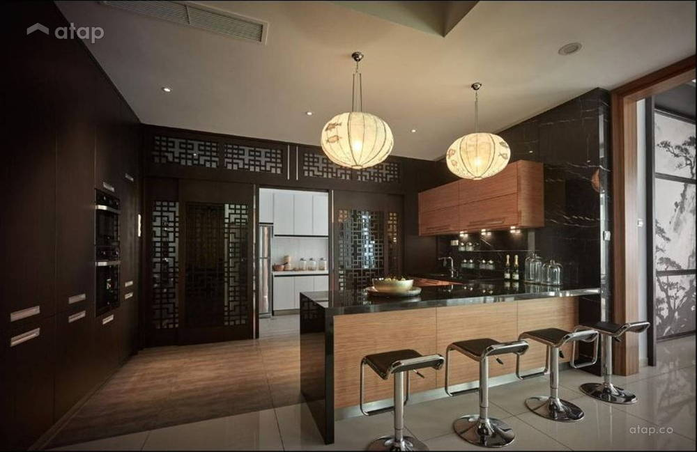 Oriental lantern kitchen