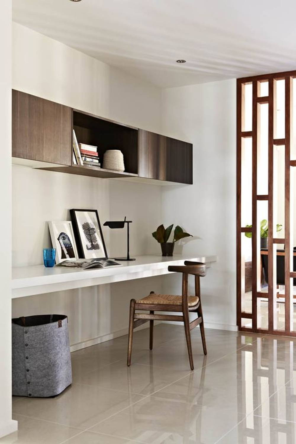 Industrial Study Room: Sleek Divider And Partition Ideas That Aren't Full Walls