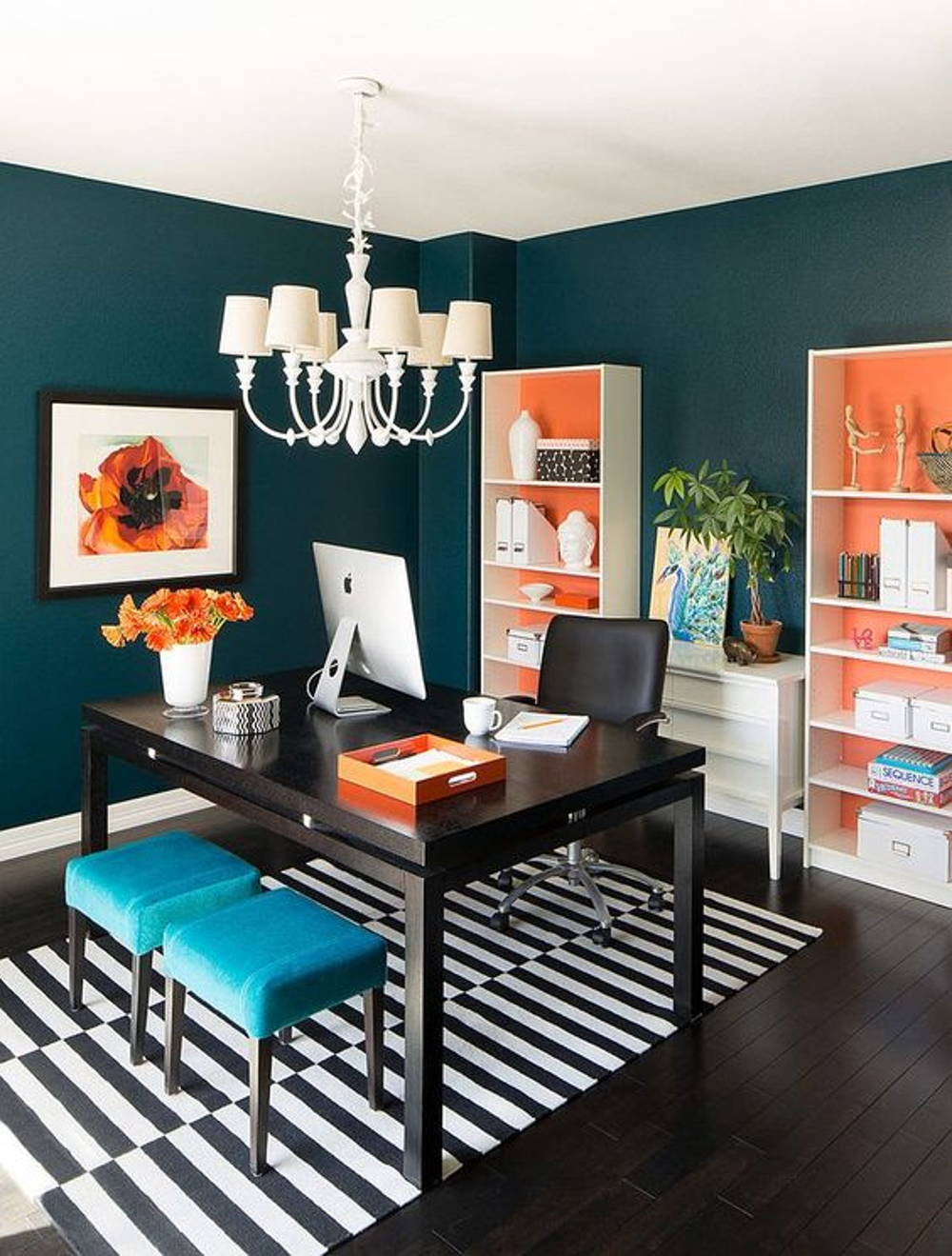 Blue orange office