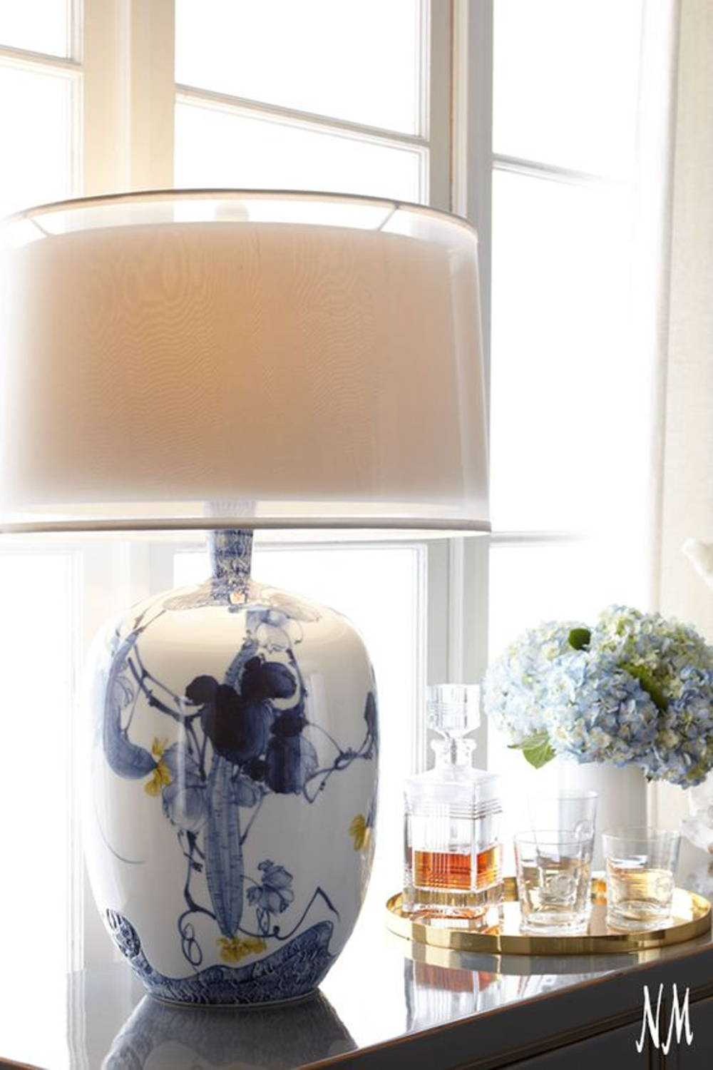 porcelain lamp decor